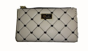 Betsey Johnson LUV BETSEY BONE /QUILTED DIAMONDS / BLACK STITCHING/GIFT BOXED
