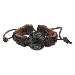 Aztec Sun Leather Braclet