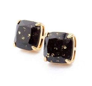 Kate Spade NEW Kate Spade New York Jet Black Glitter Studs Earrings