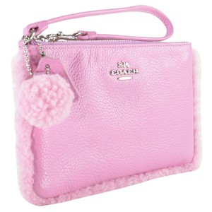 Coach Leather Wristlet in MARSHMALLOW 2