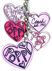Coach Rare X-Large Coach Poppy Mirror Heart Key Fob