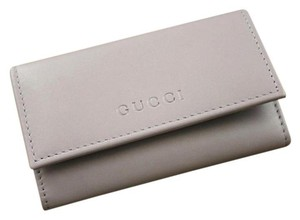 Gucci New GUCCI Leather Key Chain/ Holder LILAC w/Box 260989 5350
