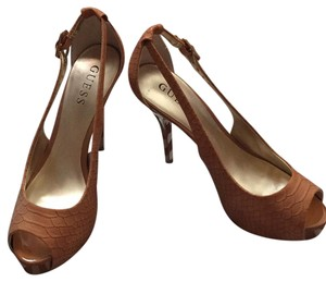 Guess By Marciano Cognac Platforms