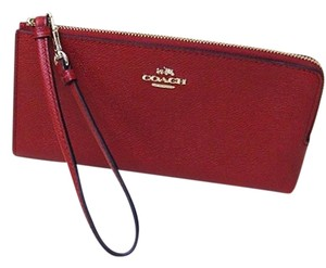 Coach Red Leather 52549 Wristlet in RED CURRANT