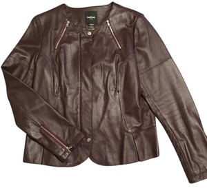 bebe Oxblood(Deep Burgundy) Leather Jacket