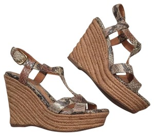 Sfft Multi snake print Wedges