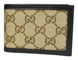 Gucci New Gucci Original GG Canvas Bifold Slim Wallet 233157 9643