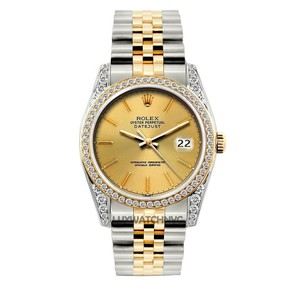 Rolex MEN'S ROLEX DATEJUST 2-TONE DIAMOND WATCH WITH ROLEX BOX & APPRAISAL
