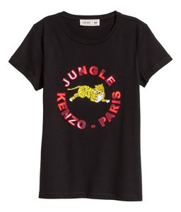 975155889ca Kenzo x H M Black Paris Women s Jungle Tiger T-shirt Xs Tee Shirt ...