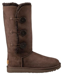 UGG Australia Bailey Button Chocolate Boots