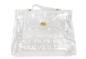 Hermès Kelly Souvenir L'exposition Kelly Kelly Vintage Tote in clear