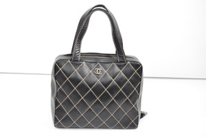 Chanel Quilted Leather 100% Large Expandable Shoulder Bag