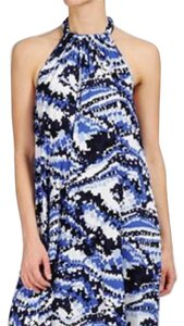 Blue black and white Maxi Dress by Rachel Pally