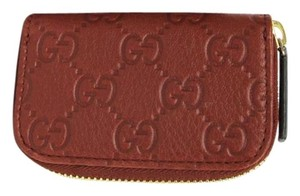 Gucci Gucci Brick Brown Guccissima Leather Coin Purse Wallet 324801 6117
