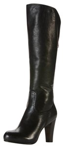 Frye Leather Tall Zip Fold Down Black Boots