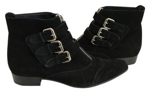 Tabitha Simmons Suede Ankle Made In Italy Holiday BLACK Boots