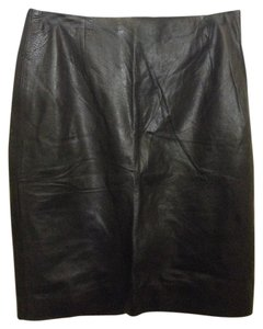 Topshop Leather Mini Skirt Black