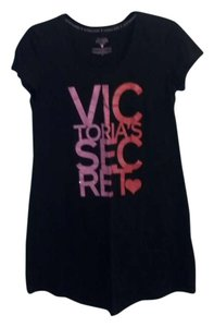 Victoria's Secret Black Victoria's Secret Short Sleeve Night Shirt