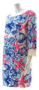 Lilly Pulitzer short dress Pink, white and teal Starfish on Tradesy