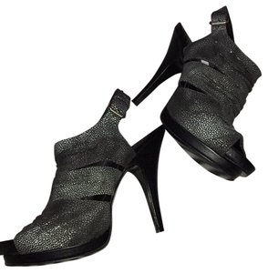 BCBGeneration Black,gray,silver Platforms