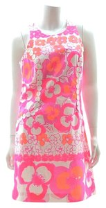 Lilly Pulitzer short dress white, pink and orange Floral on Tradesy