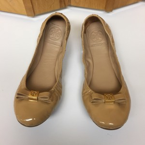 Tory Burch Patent Leather Ballet Sand Flats