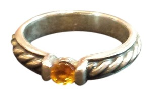 Tension set sterling silver Citrine ring Citrine and Sterling Tension set ring