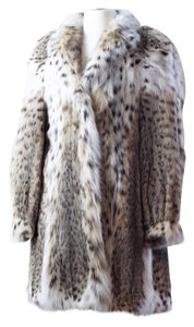 Neiman Marcus Natural Cat 3/4 Length Fur Coat