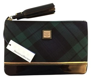 Dooney & Bourke Vintage Patent Green and Black Clutch