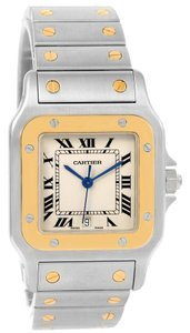 Cartier Cartier Santos Galbee Large Steel 18K Yellow Gold Quartz WatchW20011C4