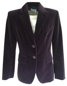 Saint Laurent Yves Velvet Classic Purple Blazer
