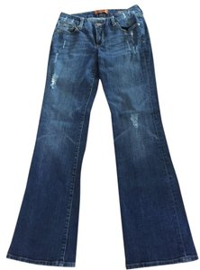 Seven7 Distressed Boot Cut Jeans