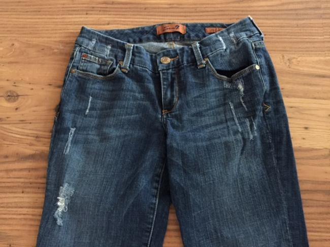 Seven7 Distressed Boot Cut Jeans Image 1