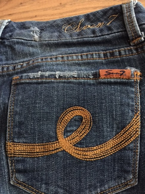 Seven7 Distressed Boot Cut Jeans Image 8