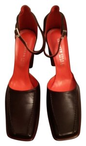 Kenneth Cole Leather Mary Jane Detail Espresso (Brown, Coffee Bean) Pumps