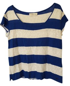 Abercrombie & Fitch & T Shirt Blue and White