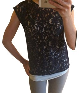 Ann Taylor LOFT Top Navy blue
