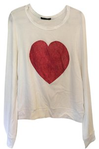 Wildfox Heart Off The Shoulder Sweater