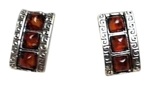 Other Amber and Sterling Pierced Earrings - New