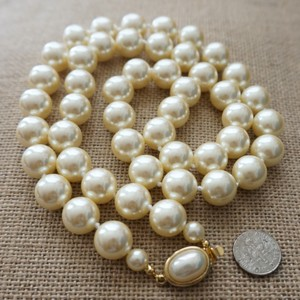 Carole Little Ivory Vintage Estate Pearl Necklace