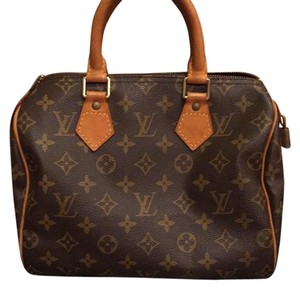 Louis Vuitton Speedy 25 Speedy Classic Monogram Satchel in Brown