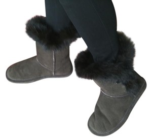 Bearpaw Ugg Boot Fur brown Boots