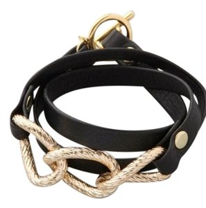 Gorjana Black Parker Leather Wrap Bracelet