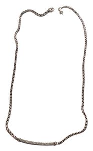 David Yurman 'Petite Pave' Metro Chain Diamond necklace
