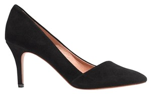 Madewell Mira Heel Stiletto Heel Black Suede Pumps