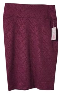 LuLaRoe Skirt Dark Mauve
