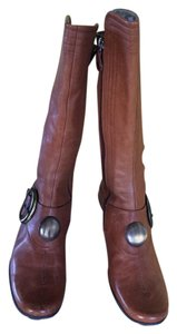 Materia Prima Side Buckle Metal Circle Button Camel Boots