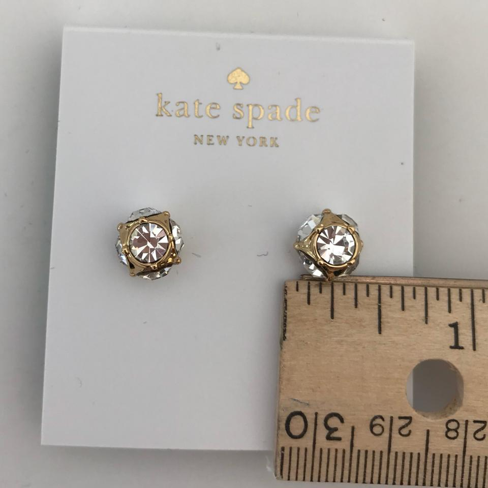 0cf6a6d940a39 Kate Spade Gold Tone Clear New York Crystal Cluster Stud Earrings
