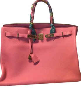 Hermès Birkin Togo Leather Gold Hardware Satchel in Rose Lipstick