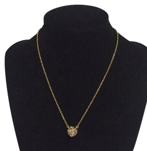 Kate Spade Nwt Kate Spade Gold Tone Clear Crystal Cluster Stone Pendant Necklace